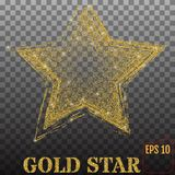 Shiny golden star, isolated on transparent background. Vector Stock Photos