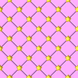 Golden shiny star pink upholstery pattern Stock Image