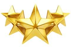 Shiny golden stars Royalty Free Stock Photos