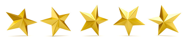 Shiny golden stars Royalty Free Stock Photography