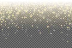 Shiny golden stars vector background isolated