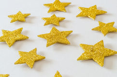 Shiny golden stars Royalty Free Stock Photography