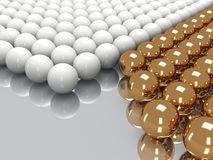 Shiny golden and white balls Royalty Free Stock Photos