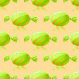Shiny Green Candies Seamless Pattern Royalty Free Stock Image