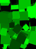 Shiny green cube background. Shiny green cube abstract background. 3D illustration Vector Illustration