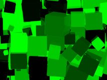 Shiny green cube background. Shiny green cube abstract background. 3d illustration Stock Illustration