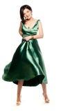Shiny green dress Stock Photo
