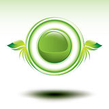 Shiny green environmental vector symbol Royalty Free Stock Photos