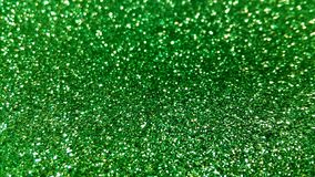 Green glitter texture detail Stock Photography