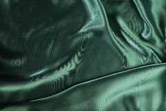 Shiny green satin fabric Stock Photography