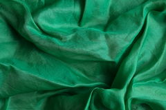 Shiny green silk handkerchief Stock Photo