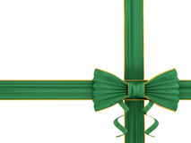 Shiny green silk ribbon Royalty Free Stock Images