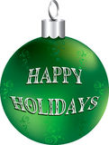 Shiny Green Silver Ornament Royalty Free Stock Image