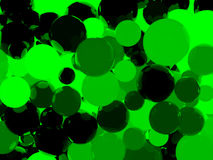 Shiny green sphere background. Shiny green sphere abstract background. 3d illustration Royalty Free Stock Photo