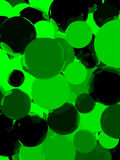 Shiny green sphere background. Shiny green sphere abstract background. 3D illustration Stock Images