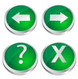 Shiny green web buttons Stock Images