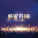 Shiny greeting card for New Year celebration. Stock Photography