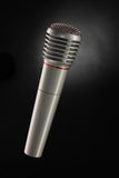 Shiny grey iron microphone Royalty Free Stock Photos