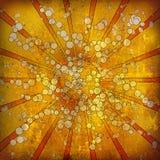 Shiny grunge. Retro sun in cartoon style Royalty Free Stock Photos