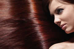 Shiny hair Royalty Free Stock Images