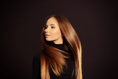 Shiny hair Royalty Free Stock Photos