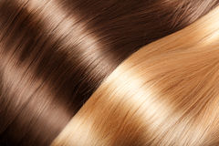Shiny hair texture luxurious hair Stock Photography