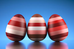 Shiny happy Easter eggs Stock Images
