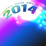 Shiny happy new year. Beautiful style 2014 happy new year design Stock Image