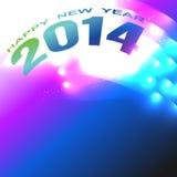 Shiny happy new year. Beautiful style 2014 happy new year design stock illustration