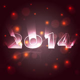 Shiny happy new year. Beautiful style 2014 happy new year design Stock Photo
