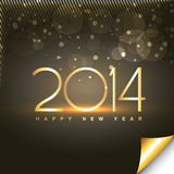 Shiny happy new year greeting Stock Images