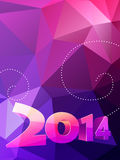 Shiny happy new year. Style background Stock Images
