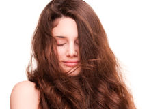 Shiny healthy hair. Royalty Free Stock Photos