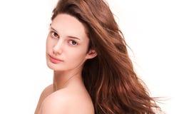 Shiny healthy hair. Royalty Free Stock Image
