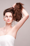 Shiny healthy hair. Stock Images
