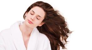 Shiny healthy hair. Stock Photo