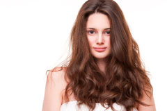 Shiny healthy hair. Stock Photos