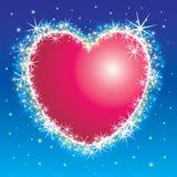 Shiny heart. Shiny shiny star burst heart frame Stock Illustration