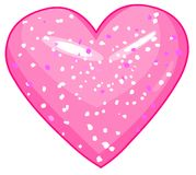 Shiny_heart Royalty Free Stock Photography