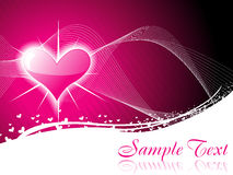 Shiny heart background Royalty Free Stock Image