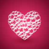 Shiny Heart of Bubbles Royalty Free Stock Photo