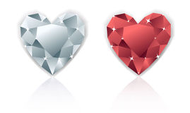 Shiny  heart diamond Royalty Free Stock Photo