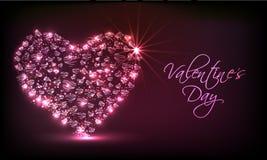 Shiny heart for Happy Valentines Day celebration. Stock Image