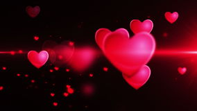 Shiny heart shape stock footage