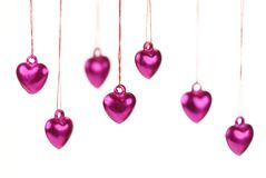 Shiny heart trinkets Stock Images