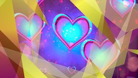 Shiny heart. Valentine`s Day. Background stock video