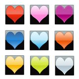Shiny Hearts Stock Photography