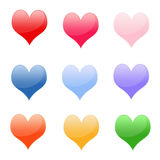 Shiny Hearts Royalty Free Stock Photos