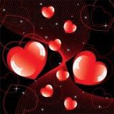 Shiny hearts Royalty Free Stock Photo