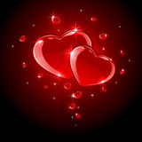 Shiny Hearts Stock Photo